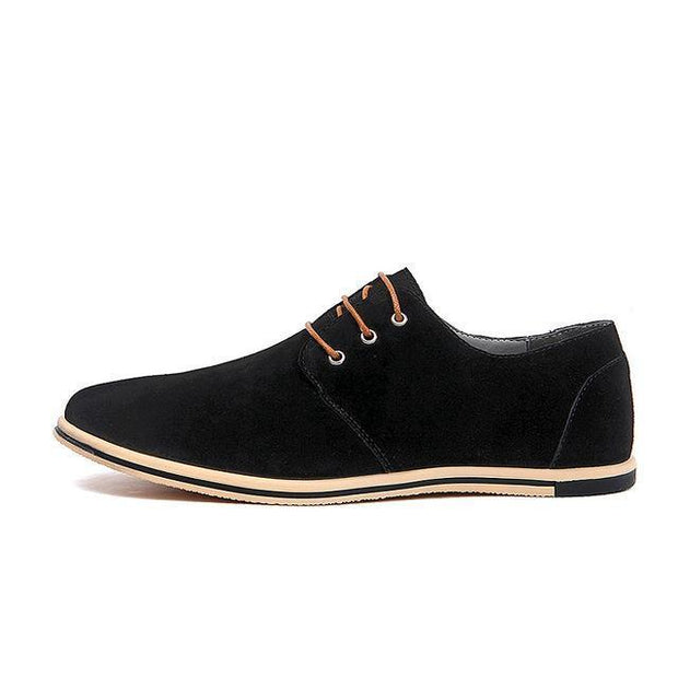 West Louis™ Real Suede Leather Shoes Black / 6.5 - West Louis
