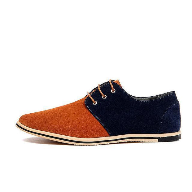 West Louis™ Real Suede Leather Shoes Light brown Blue / 6.5 - West Louis