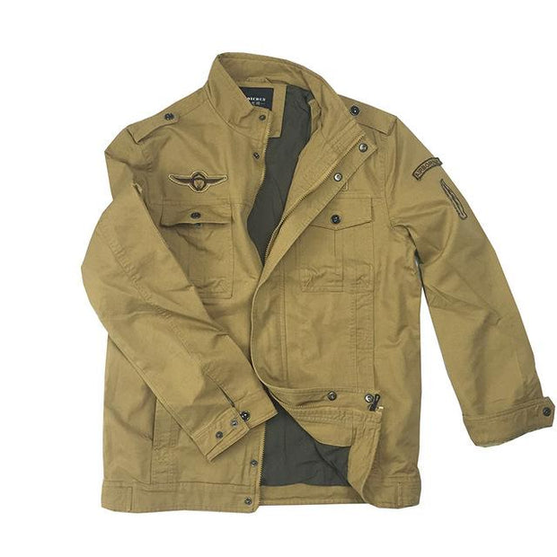 West Louis™ Air Force Style Coat Khaki / XS - West Louis