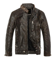 West Louis™ Moto Vintage Jackets Brown / M - West Louis