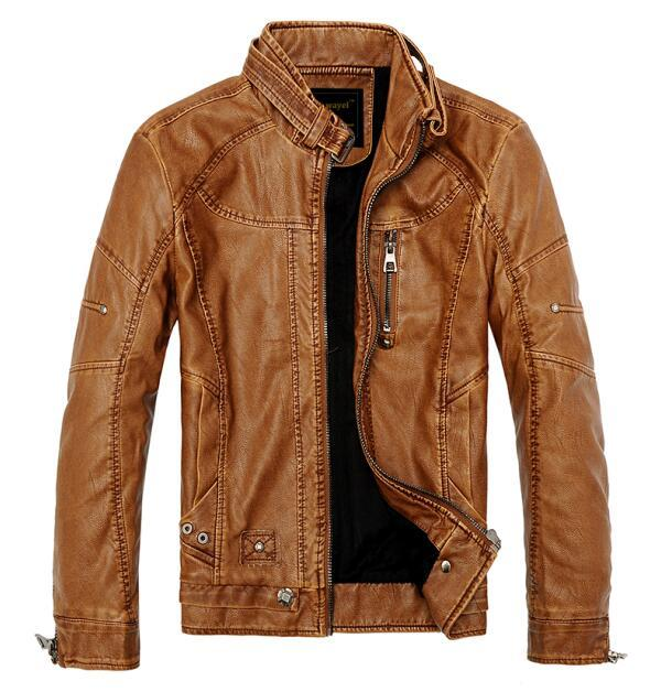 West Louis™ Moto Vintage Jackets Yellow / M - West Louis