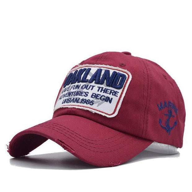 West Louis™ Snapback Casquette Homme Dad Hat Wine red - West Louis