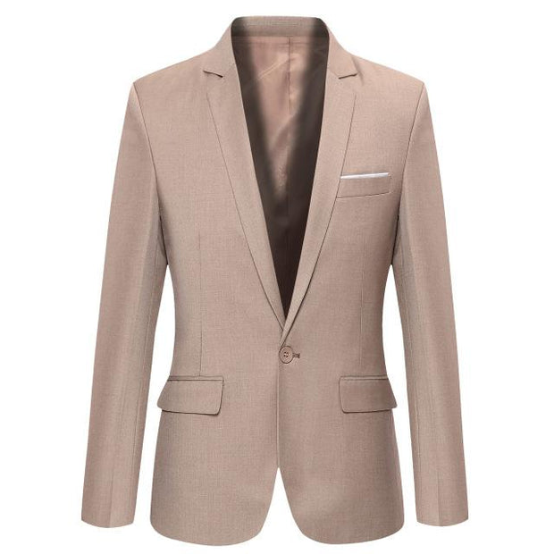 West Louis™ Casual Solid Color Masculine Blazer Pink / XS - West Louis