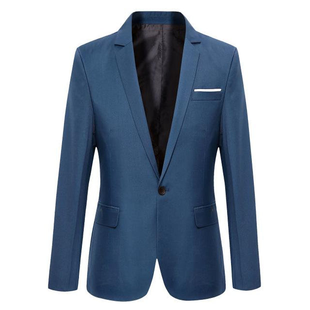 West Louis™ Casual Solid Color Masculine Blazer NavyBlue2 / XS - West Louis
