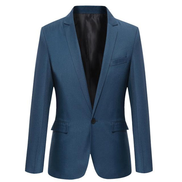 West Louis™ Casual Solid Color Masculine Blazer NavyBlue / XS - West Louis