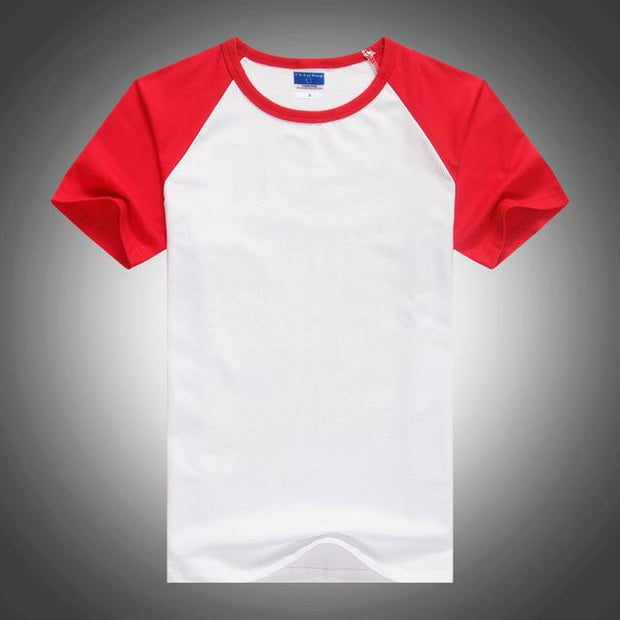 West Louis™ Summer Round Collar Cotton T-shirt Red / XS - West Louis