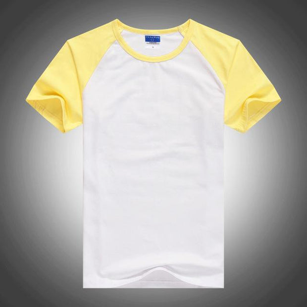 West Louis™ Summer Round Collar Cotton T-shirt Yellow / XS - West Louis