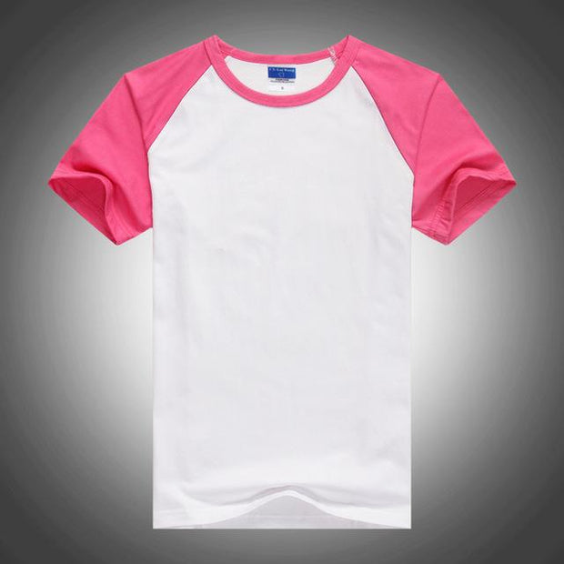 West Louis™ Summer Round Collar Cotton T-shirt Pink / XS - West Louis
