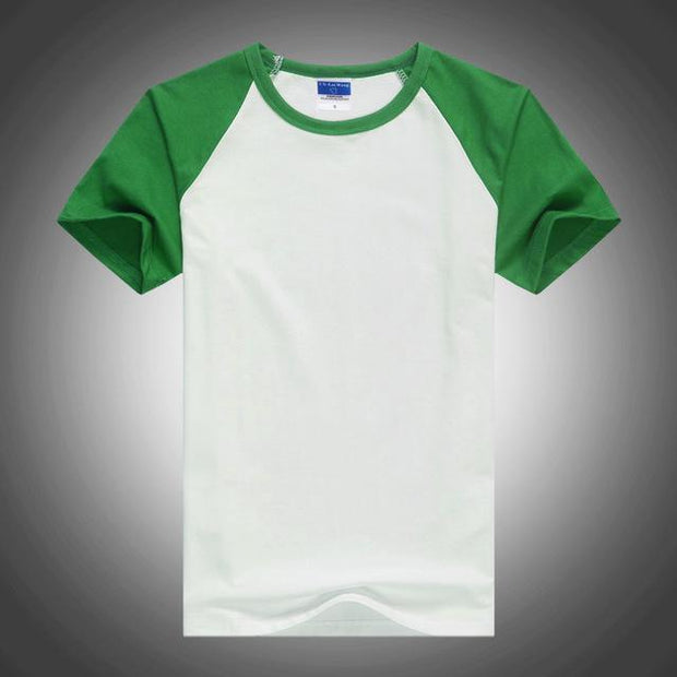 West Louis™ Summer Round Collar Cotton T-shirt Green / XS - West Louis