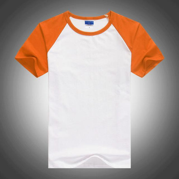 West Louis™ Summer Round Collar Cotton T-shirt Orange / XS - West Louis