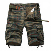 West Louis™ Fashion Plaid Shorts Army Green / 30 - West Louis