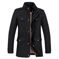 West Louis™ Men Jaqueta Coat Fashion black / M - West Louis
