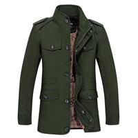 West Louis™ Men Jaqueta Coat Fashion Army Green / M - West Louis