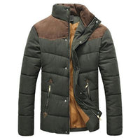 West Louis™  Banded Collar Padded Down Jacket Army Green / M - West Louis