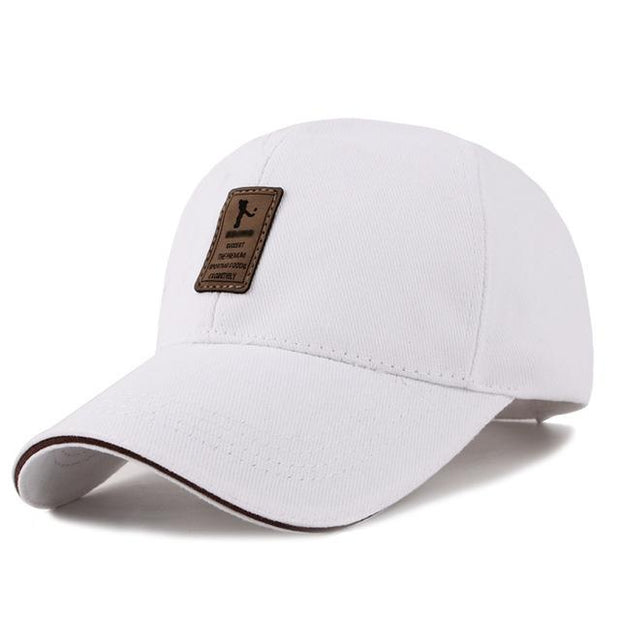 West Louis™ Cotton Casual Golf Hat White - West Louis
