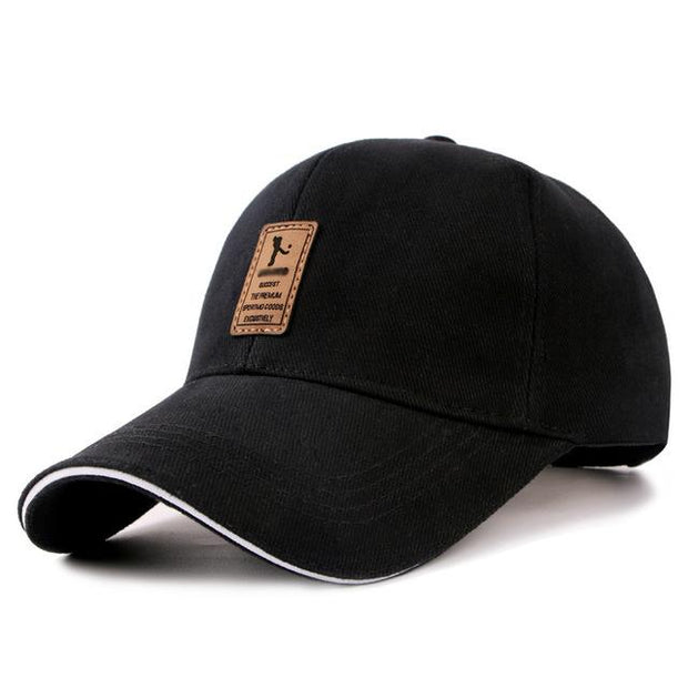 West Louis™ Cotton Casual Golf Hat Black - West Louis