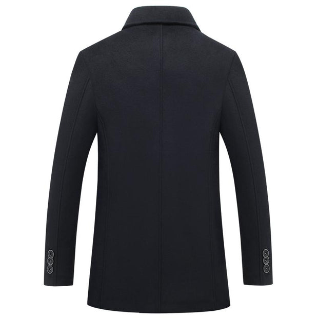 West Louis™ Single Breasted Woolen Coat  - West Louis