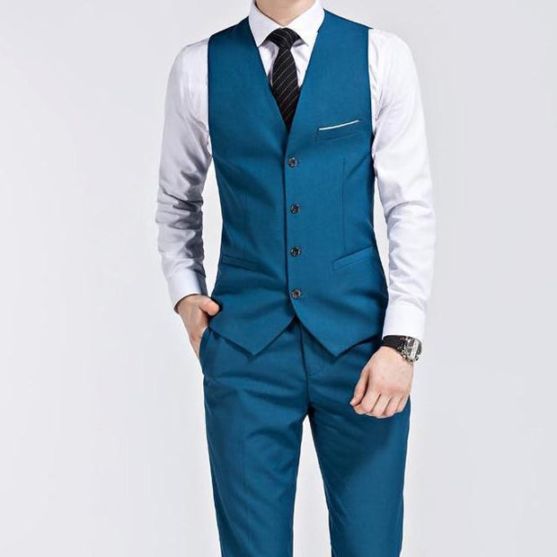 West Louis™ - Luxury Slim Fit 3-pieces Suit(Jacket+Vest+Pants)  - West Louis