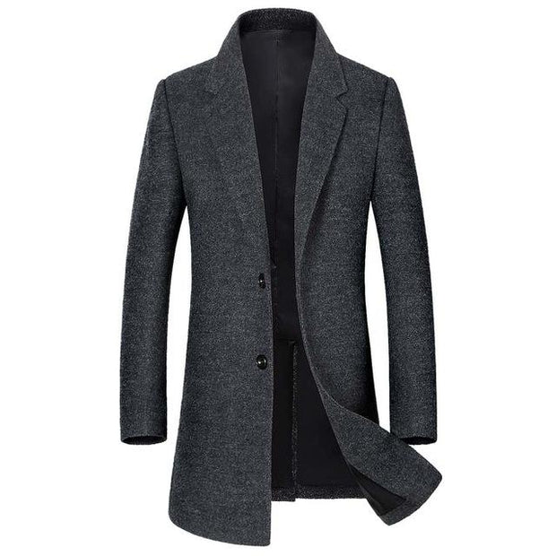 West Louis™ Wool Blends  Men's Overcoat deep gray / L - West Louis