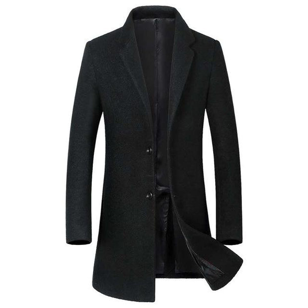 West Louis™ Wool Blends  Men's Overcoat black / L - West Louis
