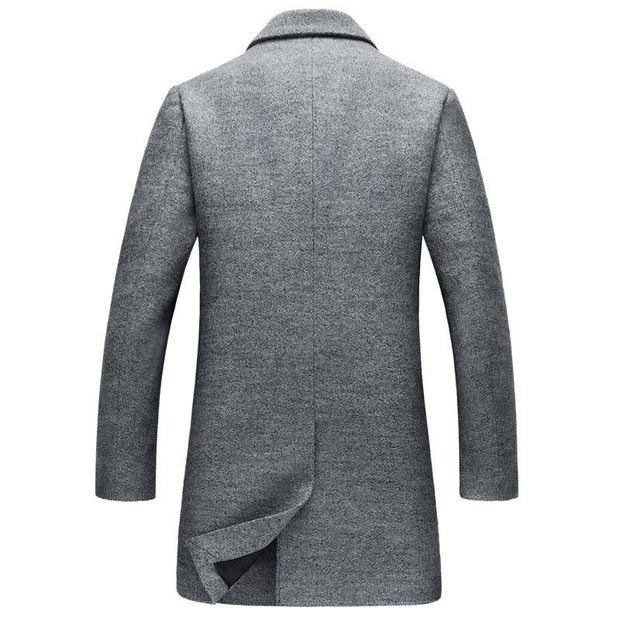West Louis™ Wool Blends  Men's Overcoat  - West Louis