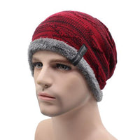 West Louis™ Knitted Beanie wine red - West Louis