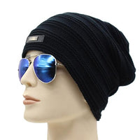 West Louis™ Baggy Solid Beanie black - West Louis