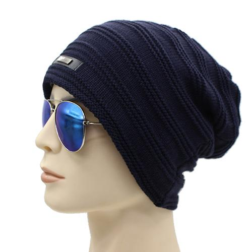 West Louis™ Baggy Solid Beanie navy - West Louis