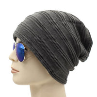 West Louis™ Baggy Solid Beanie gray - West Louis