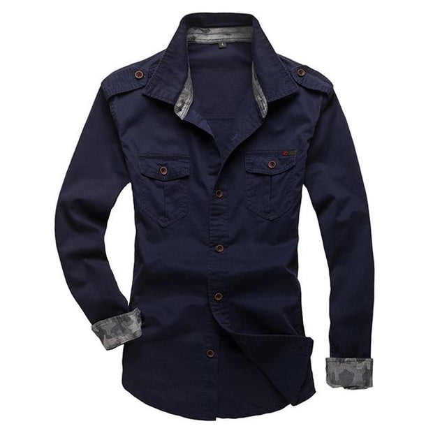 West Louis™ Modern Long Sleeve Shirt deep blue / XS - West Louis