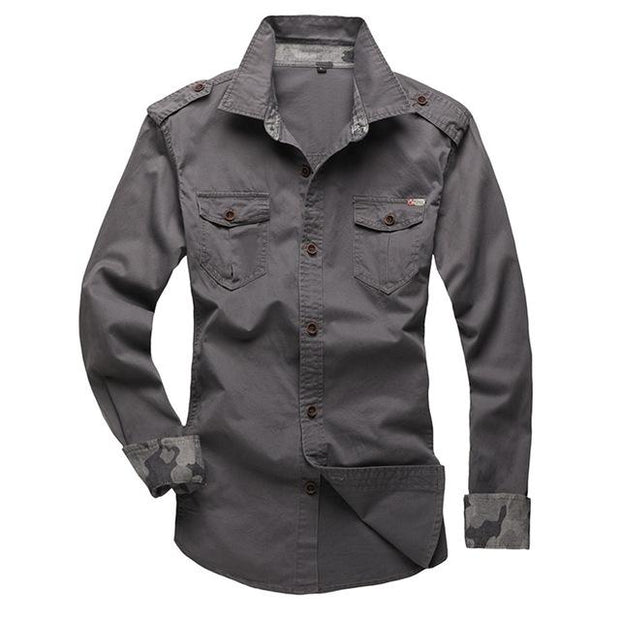 West Louis™ Modern Long Sleeve Shirt grey / XS - West Louis