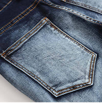 West Louis™ Pleated Stretch Denim Jeans