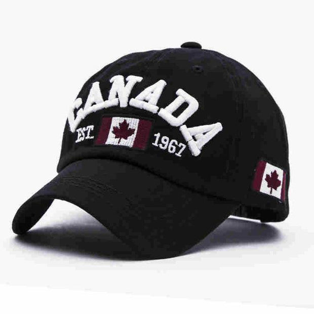 West Louis™ Canada Snapback Baseball Cap Black - West Louis