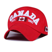 West Louis™ Canada Snapback Baseball Cap Red - West Louis