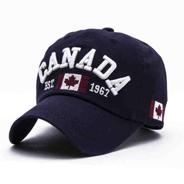 West Louis™ Canada Snapback Baseball Cap navy - West Louis