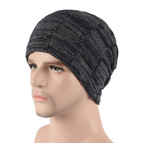 West Louis™ Winter Cap black gray - West Louis