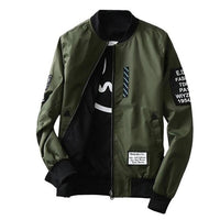 West Louis™ Bomber Fashion Overcoat Green / M - West Louis