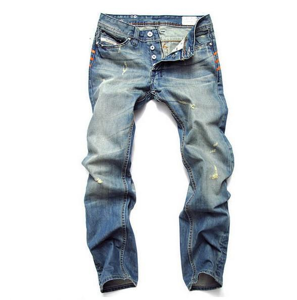 West Louis™ Famous Designer Cotton Jeans Blue / 28 - West Louis