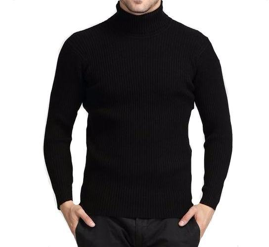 West Louis™ Winter Thick Warm 100% Cashmere Sweater Black / S - West Louis