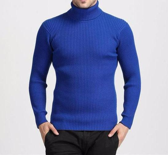 West Louis™ Winter Thick Warm 100% Cashmere Sweater Blue / S - West Louis