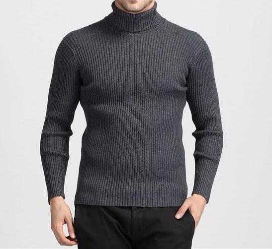 West Louis™ Winter Thick Warm 100% Cashmere Sweater Gray / S - West Louis