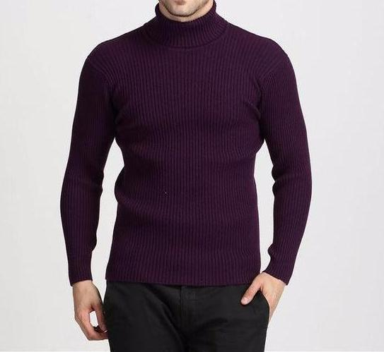 West Louis™ Winter Thick Warm 100% Cashmere Sweater Purple / S - West Louis