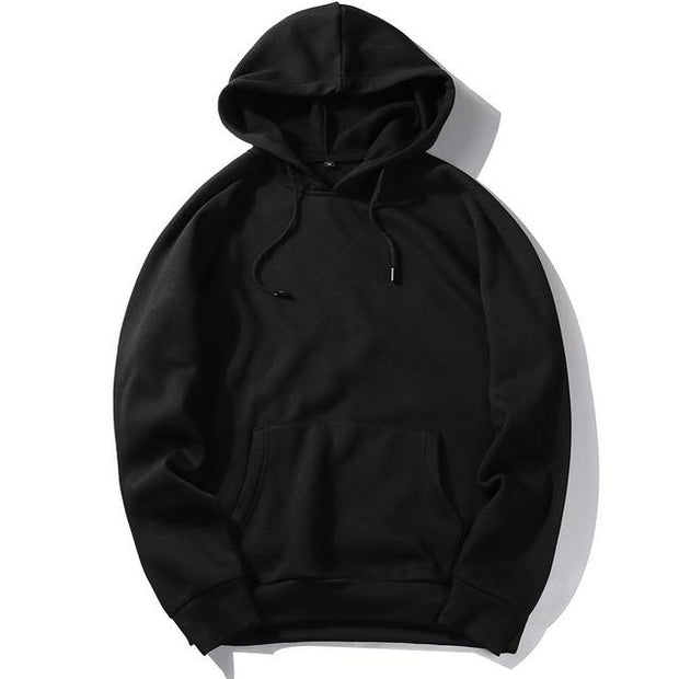 West Louis™ Casual Solid Hoodie Black / S - West Louis