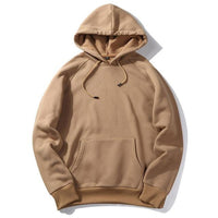 West Louis™ Casual Solid Hoodie Khaki / S - West Louis