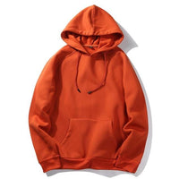 West Louis™ Casual Solid Hoodie Orange / S - West Louis