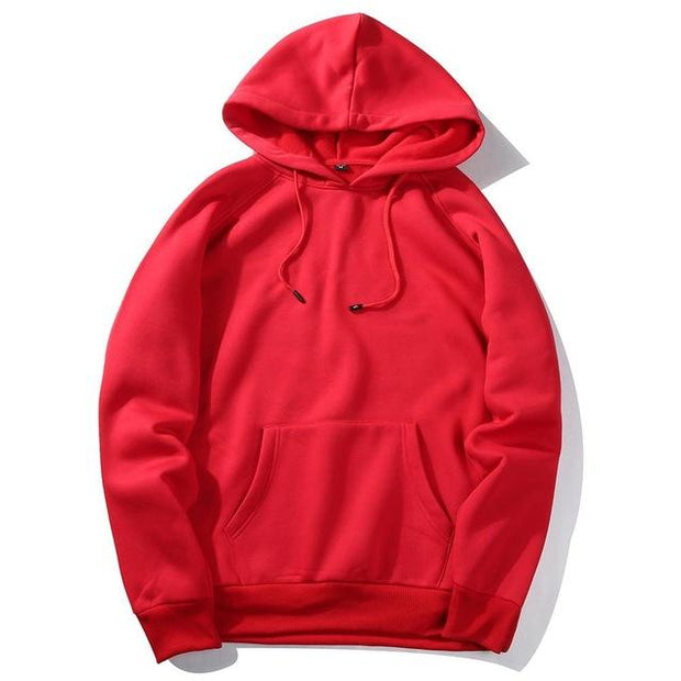 West Louis™ Casual Solid Hoodie Red / S - West Louis