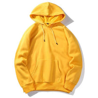 West Louis™ Casual Solid Hoodie Yellow / S - West Louis