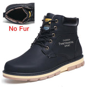 West Louis™ High Quality Warm Winter Boots No Fur Black / 7 - West Louis