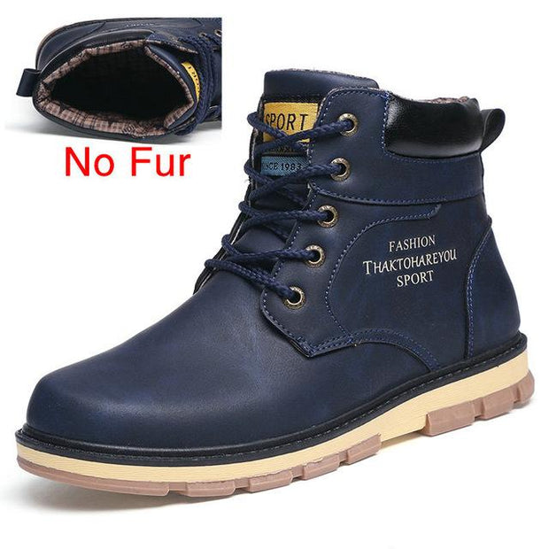 West Louis™ High Quality Warm Winter Boots No Fur Blue / 7 - West Louis