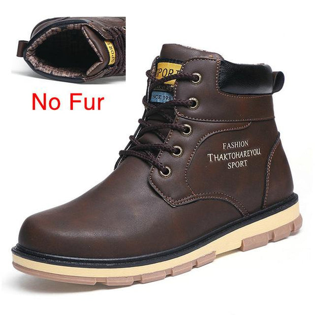 West Louis™ High Quality Warm Winter Boots No Fur Dark Brown / 7 - West Louis